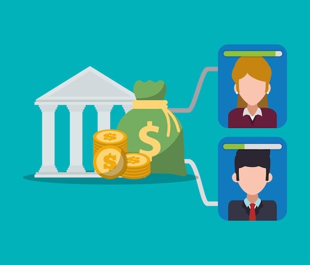 Pièces et billets de banque numériques