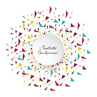 Pièces de confettis colorés abstraits. Fond de vacances