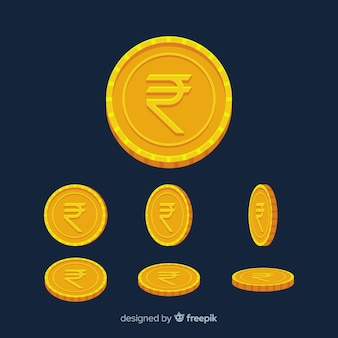 Pièces de monnaie en roupies indiennes