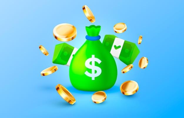 Les pièces d'un dollar empilent l'icône de paquet d'or enregistrer le vecteur