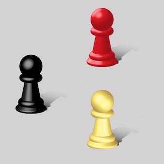 Pièces d'échecs 3d