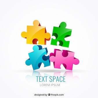 Des pièces de puzzle de couleur