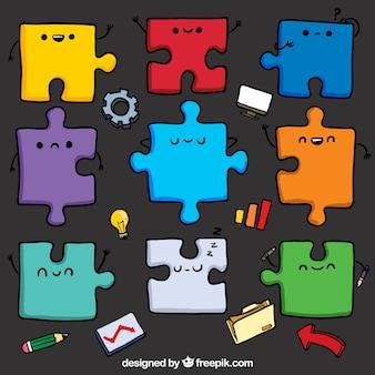 Des pièces de puzzle mignon