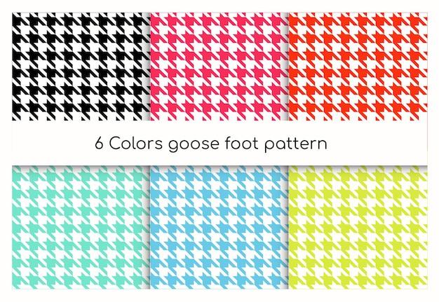 Pied d'oie motif géométrique sans soudure, ensemble de dents de chien. collection de texture de chèque anglais classique