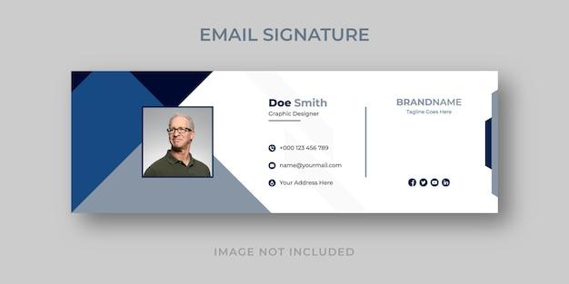 Pied de page de l'e-mail et couverture personnelle des médias sociaux