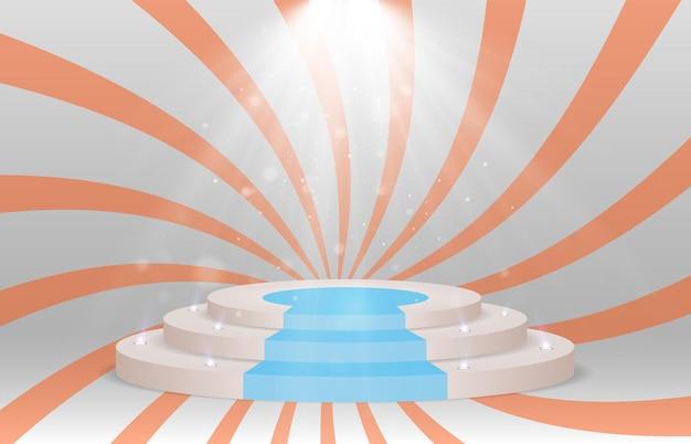 Un piédestal ou une plate-forme pour honorer les gagnants illustration vectorielle