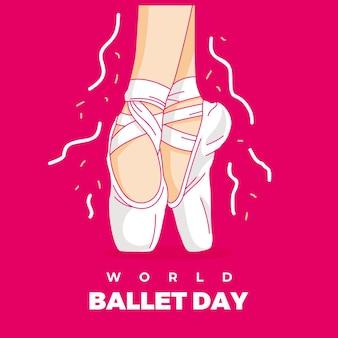 Pieds De Femme Dansant Le Ballet Avec De Belles Chaussures Vecteur Premium