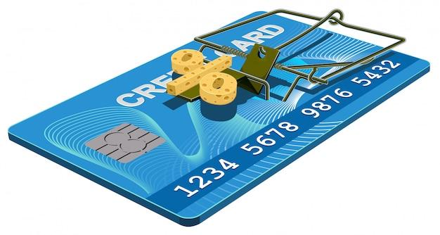 Piège à carte de crédit, fromage sans intérêt bancaire dans la souricière