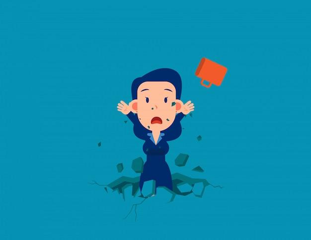 Le piège. tomber dans un piège. concept d'entreprise illustration vectorielle.