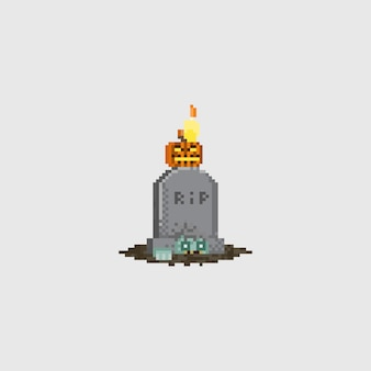 Pierre tombale de pixel