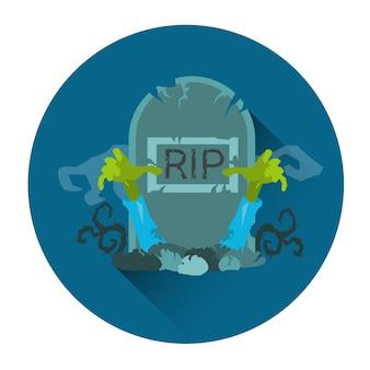Pierre tombale rip pierre zombie halloween vacances icône
