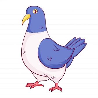 Pigeon dessiné main mignon