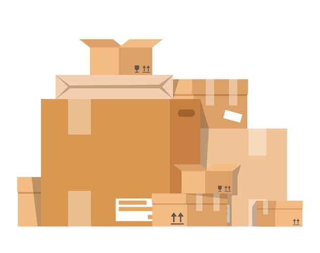 Pile des boîtes.