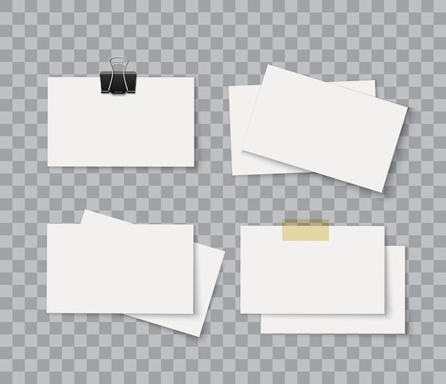 Pile de cartes de visite de package d'identité d'entreprise vierge