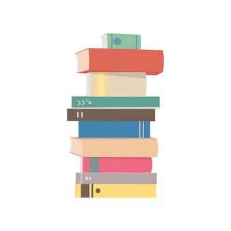 Pile d'illustration graphique de livres