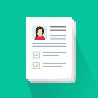 Pile de documents de profil de données personnelles