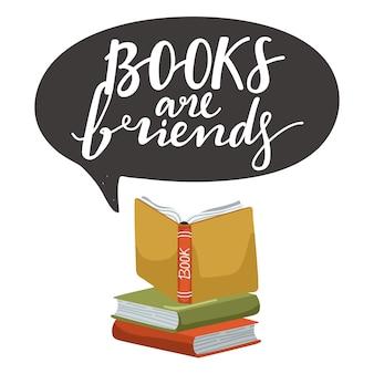 Pile de livres et livre ouvert.