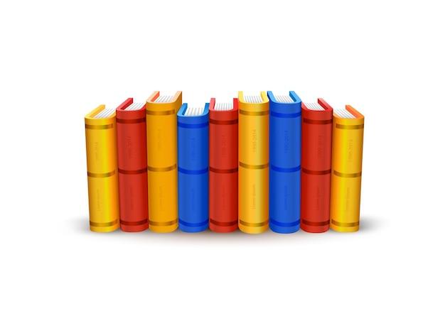 Pile d'objets de couleur d'art de livres. illustration vectorielle