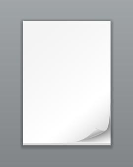 Pile de papier vide de vecteur sur blanc