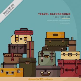 Pile de valises emballés
