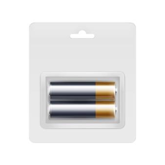 Piles alcalines aa vector black golden glossy en blister transparent