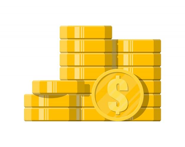 Des piles de pièces d'or