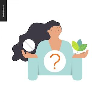Pilule ou à base de plantes