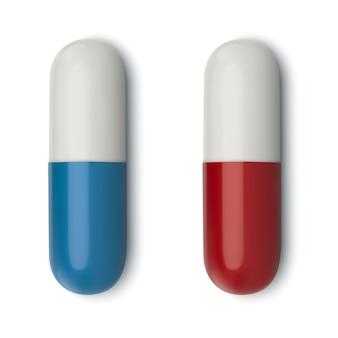 Pilule médicale blanche réaliste 3d