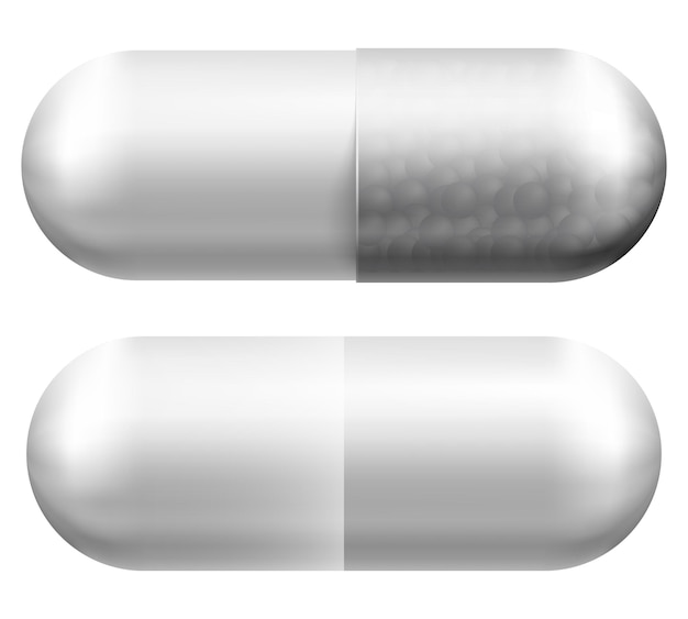 Pilule médicale. illustration vectorielle isolée sur blanc