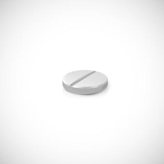 Pilule réaliste. illustration isolée sur fond.