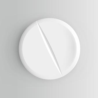 Pilule réaliste. illustration isolée