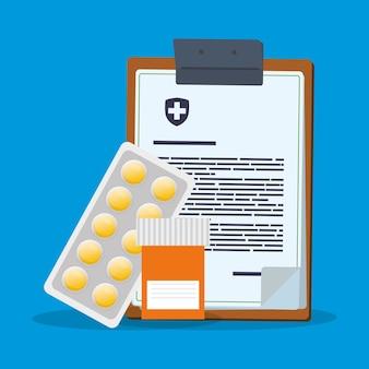 Pilules de bouteille de médicaments