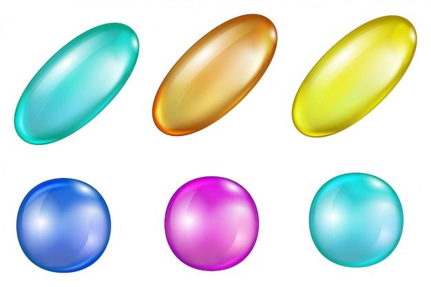 Pilules médicinales colorées
