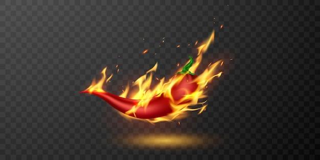 Piment de feu moyen et chaud.