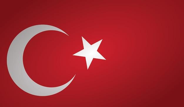 Pin du drapeau de la turquie, isolé sur fond clair