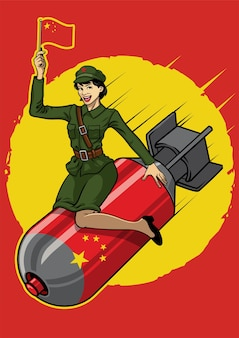 Pin up chinois fille bombe nucléaire