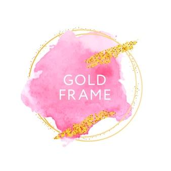 Pinceau abstrait peinture texture conception course acrylique sur cadre doré