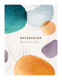Pinceau créatif taches taches aquarelle aquarelle abstraite d formes vectorielles fond texturé et