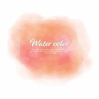 Pinceaux de fond abstrait couleur eau avec cadre blanc
