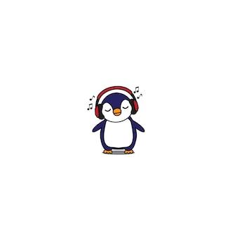 Pingouin avec un casque