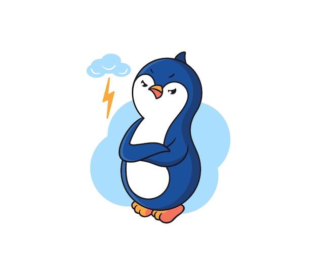 Le pingouin est en colère.