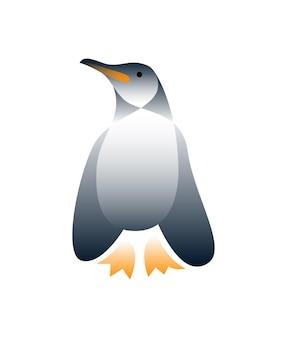 Pingouin de vecteur dans un style dégradé. art numérique