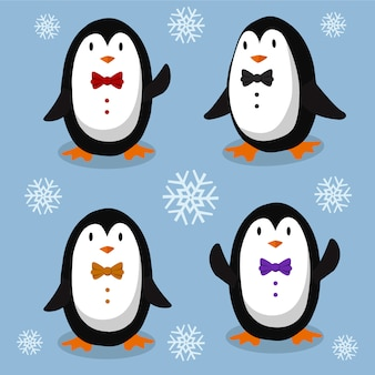 Pingouins élégants