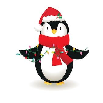 Les pingouins mignons sont une lampe de décoration