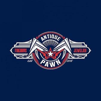 Pion moderne logo vintage