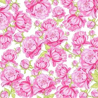 Pions à motif de fleurs