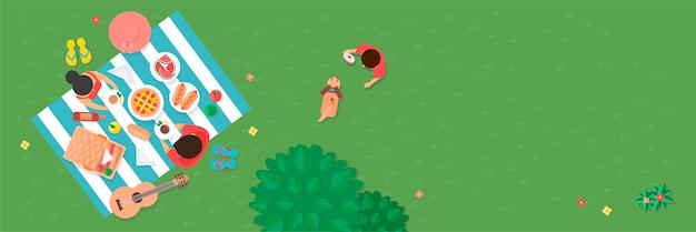 Pique-nique dans le parc