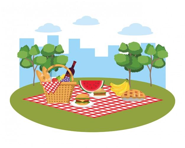 Pique-nique sur parc