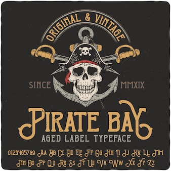 Pirate ba lettrage vintage