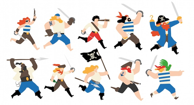 Pirate crew character set